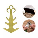 Bakeey Multifunction Magnetic Phone Holder Bottle Opener Retro Portable Traditional Chinese knotting Shaped Metal Mini Desktop Stand Support Suction Tablet Phone Tripod Desktop Magnet Bracket For iPhone 12 Poco X3 NFC