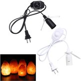 1M E12 Socket Bulb Adapter US Plug with Dimmer Cable Cord Switch for Himalayan Salt Lamp Electric