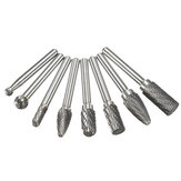 8pcs Carbide Rotary Burr Set 1/4 Inch Shank File Power Tool