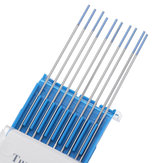 10Pcs WL20 1.0mm Tip 150mm Length TIG Welding Tungsten Electrodes Rods Set