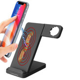 Caricabatteria da 10W Dual Coils Qi Caricabatterie wireless Ricarica rapida + Porta orologio per Smart Phone abilitato Qi iPhone Samsung Apple Watch