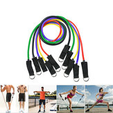 11Pcs Natural Rubber Latex Fitness Resistance Bands Exercise Elastic Pull String Work Exercise Yoga Training Set