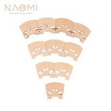 10PCS NAOMI Violin Bridge Violin Bridge For Violin Maple Wood Bridge Parts Accessories New Set