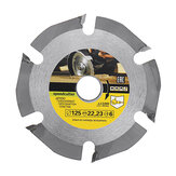 Drillpro 125mm 6 Teeth Circular Saw Blade Carbide Tipped Wood Carving Cutting Disc for Angle Grinders