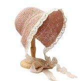 Женское кружево Brim складной солнцезащитный крем ведро соломы Шапка
