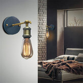 E27 Retro Metal Sconces Light Edison Vintage Wall Lamp Holder Fixture Lampshade AC110-220V