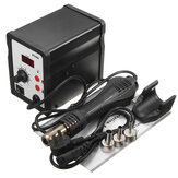 858D 220V heteluchtsolderen ReWork-station + handgreep + handgreepstandaard + 3 mondstukken