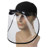 2 In1 Detachable Double Sides Full Face Shield with Hat Anti-Fog Saliva Dustproof Protective Cover Baseball Hat Fishing Bucket Hat