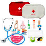 Child Portable Wooden First Aid Kit Toys Kids Teaching Interactive Game