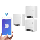 3pcs SONOFF MiniR2 Two Way Smart Switch 10A AC100-240V Works with Amazon Alexa Google Home Assistant Nest Supports DIY Mode Allows to Flash the Firmware