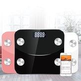 Grasa corporal inteligente Escala Aplicación Smart Wireless Escala para peso corporal Grasa corporal Agua Masa muscular IMC Masa ósea Grasa visceral, etc.