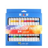 H&B Professional 24-Color 12ML Propylene Pigment Set Hand-Set Wall Painting DIY Watercolor Set Set