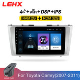YUEHOO 9 Inch Android 10.0 Auto Stereo Radio Multimedia Speler 2G / 4G + 32G GPS WIFI 4G FM AM RDS bluetooth Voor Toyota Camry 2006-2011