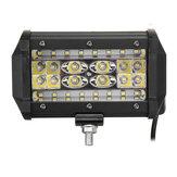 LED İş Işık Çubuğu Spot Sel Sürüş Sis Lambası 6000K Beyaz Jeep Off-Road Pikap Vagonu UTV için