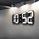 DigooDC-K3Многофункциональныебольшие3DLED световые Цифровые Часы  С функцией повтора (Часы-будильник на стене)
