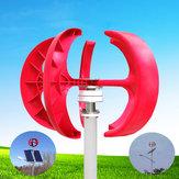12V / 24V 100W Red Lantern Vertical Vertical Turbina Eólica Gerador de energia eólica