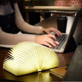 Folding 360 ° Wooden Night Book Light LED Creative Night Lamp USB Rechargeable