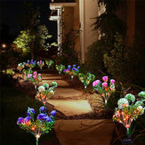 LED Solar Lawn Lights Solar Flower Lights with Multi-Color Changeing for Garden Patio Yard Decoration