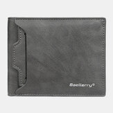 Baellerry Men PU Leather Multi-Card Slot Dorywczo cienki klips na pieniądze Portfel na karty