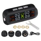 Sistema de monitor de pressão dos pneus TY-1 Testador em tempo real LCD Tela com 4 sensores externos Auto Power On Off