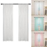 Rideau en Tulle Voile de fenêtre moderne panneau de drapé transparent pour rideaux de salon de chambre à coucher à la maison