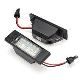 2Pcs Car LED License Number Plate Lights for Nissan Qashqai X-trail Juke Primera 6000K White