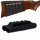 5 rondas Ejército Escopeta elástica Stock Shell Ammo Caso Cartridge Holder Hunting Gun Accesorios