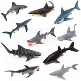 Realistic Ocean Animal Model Marine Animal Solid Whale Shark Series Science Education Puzzle Toys