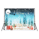 5x7FT Merry Christmas Snow Gift Photography Backdrop Background Studio Prop