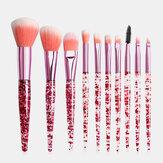 10pcs / kit kit de pinceaux de maquillage Flash diamant dérive sable pinceau de maquillage pinceau fard à paupières sourcil