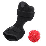 Plantar Fasciitis Night Splint Drop Foot Orthotic Brace with Hard Spiky Massage Ball for Effective Relief from Achilles Tendonitis Heel Pain Plantar Fascia Drop Foot Bendable Aluminum Strip