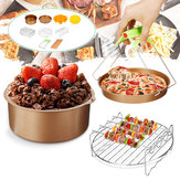10pcs / set 7inch Accessoires de friteuse antiadhésive Cake Baking Pot BBQ Barbecue Pizza Pan