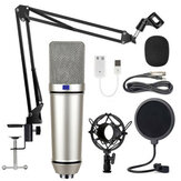 LEORY U87 Condenser Microphone Stand Anchor Recording Set Wired Mic K Song KTV Game Live Broadcast Karaoke PC DJ Audio for Sound Card