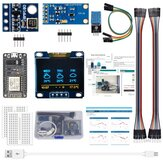 AOQDQDQD ESP8266 Weather Station Kit with Temperature Humidity Atmosphetic Pressure Light Sensor 0.96 Display for Arduino IDE IoT Starter