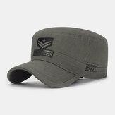 Erkekler Pamuk Kamuflaj Nakış Desen Ayarlanabilir Outdoor Spor Güneş Koruması Düz Şapka Sivri Kap Askeri Şapka