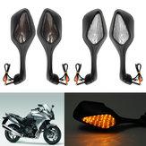 LED Motocicleta Turn Signal Espelhos Retrovisores Para Honda CBR1000RR 1000RR 2008-2013