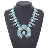 Collier Bohemia Turquoise Blossom
