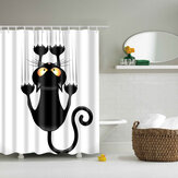 180x180cm The Cartoon Bathroom Fabric Shower Curtain Waterproof Polyester With 12 Hooks