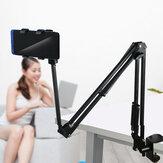 Universele 360 Rotatie Verstelbare Flexibele Luie Arm Online Cursus Aluminium Bedtafel Mobiele telefoon Tabletstandaard voor 12-18cm Breedte Smart Phone Tablet voor iPad Pro