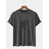 Mens Fashion Crew Neck Breathable Short Sleeve Summer T-Shirts