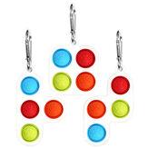 Fidget Bubble Toy Set Ansiedad Stress Reliever Juego de mesa Sensorial Simple Hoyuelo Silicona Puzzle Juguete Descompresión Artefacto para niños y adultos