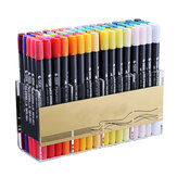 12/24/36/48/80 Colors Watercolor Brush Dual Tips Marker Pen Set with Fineliner Tip For Drawing Design Art Marker Supplies