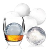 KC-IM01 4 Spherical Round Silicone Ice Lattice Cube Mold Maker Tray Whiskey Cocktail Party