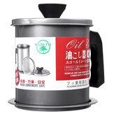 Filtro de resíduos de aço inoxidável com capacidade de 1.4L Óleo lata de armazenamento com filtro para filtro de cozinha Óleo ferramenta