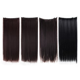 7Pcs Clip In Synthetic Chemical Fiber Human Hair Extensions 22'' Long Straight