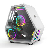Sahara Monster Computer Gaming Case M-ATX Desktop Mini Special-Shaped Chassis Game Competitive Glass Side Through Support M-ATX/ ITX Motherboard