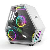 جراب ألعاب كمبيوتر Sahara Monster M-ATX مكتبي صغير على شكل خاص لعبة هيكل زجاجي تنافسي من خلال لوحة أم الدعم M-ATX / ITX