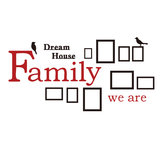 3D Photo Frame Wall Sticker Famiglia Dream House Decorazione Art Home Home Decor