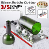 3/5 Pulley  DIY Glass Bottle Cutter Cutting Machine Jar Recycle Crafts Art