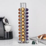 Support de dosette de capsules de café en métal 40 pièces adapté au support de stockage de capsules Nespresso
